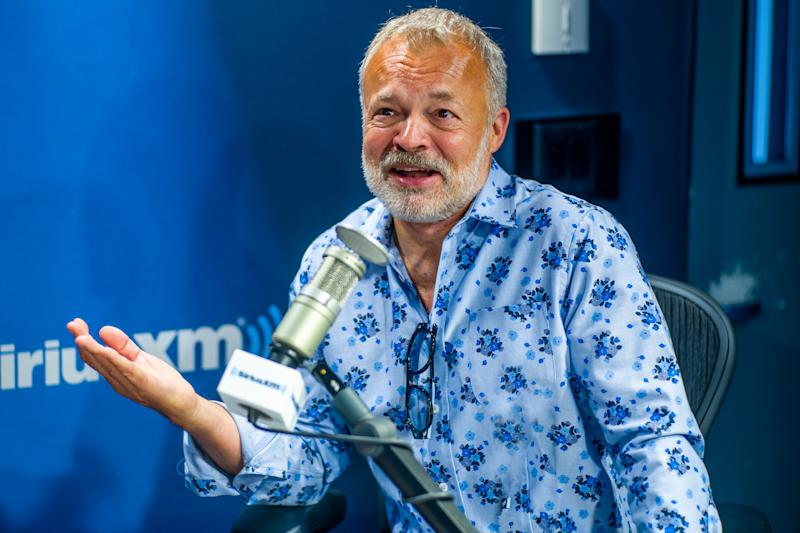 NEW YORK, NEW YORK - SEPTEMBER 04: (EXCLUSIVE COVERAGE) Graham Norton visits SiriusXM Studios on September 04, 2019 in New York City. (Photo by Steven Ferdman/Getty Images)