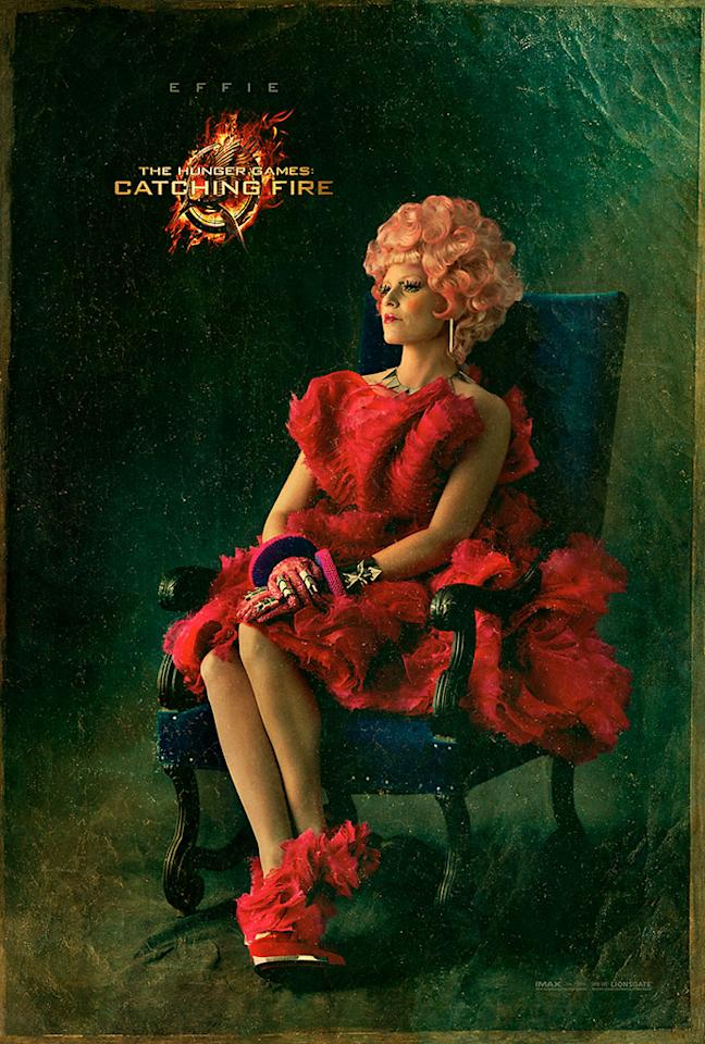 "Elizabeth Banks as Effie Trinket in the final Capitol Portrait for ""The Hunger Games: Catching Fire"" - 2013"