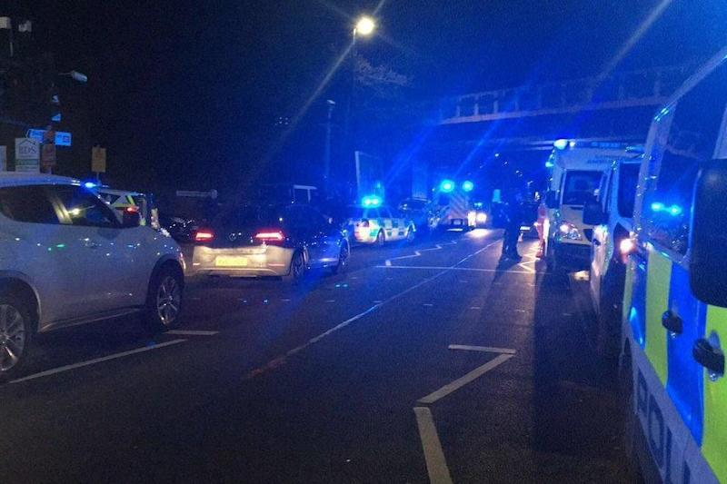 Shooting: the scene of an attack in Seven Sisters, north London (Twitter/@999London)