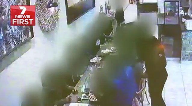 The men enjoy what a witness described as a party. Source: 7 News