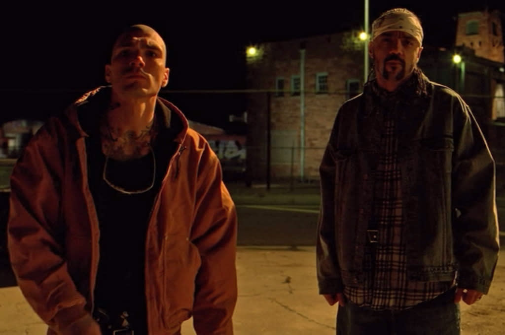 """<b>10. The two rival dealers who killed Combo</b> (Season 3, """"Half Measures"""") <br><br>Cause of Death: Hit by car; gunshot <br><br>A meth-addled Jesse was on a suicide mission when he tracked down the two drug dealers responsible for his friend Combo's murder and pulled a gun on them. But we all got a shock when Walt suddenly roared up in his crappy Pontiac Aztek and plowed over the dealers at full speed. One died instantly, but the other was still writhing in pain when Walt calmly exited his car, picked up the dealer's gun, and shot him square in the head. A long way from the Season 1 Walt, huh?"""