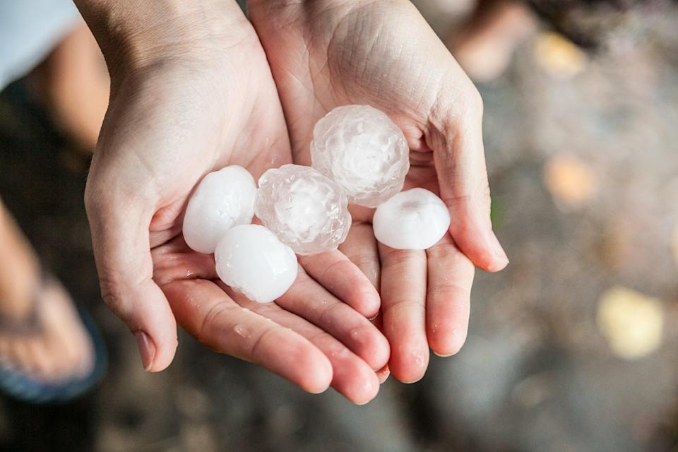 <p>Hail is so strong it breaks through roof of Walmart store</p> (Getty/iStock)