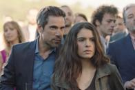 """<p>In this Spanish drama series, a powerful Galician cartel leader who masquerades as an honest businessman is diagnosed with Alzheimer's disease, and he keeps this diagnosis a secret from his family as he attempts to select his successor.</p> <p><a href=""""https://www.netflix.com/title/80241001"""" class=""""link rapid-noclick-resp"""" rel=""""nofollow noopener"""" target=""""_blank"""" data-ylk=""""slk:Watch Unauthorized Living on Netflix now"""">Watch <strong>Unauthorized Living</strong> on Netflix now</a>.</p>"""