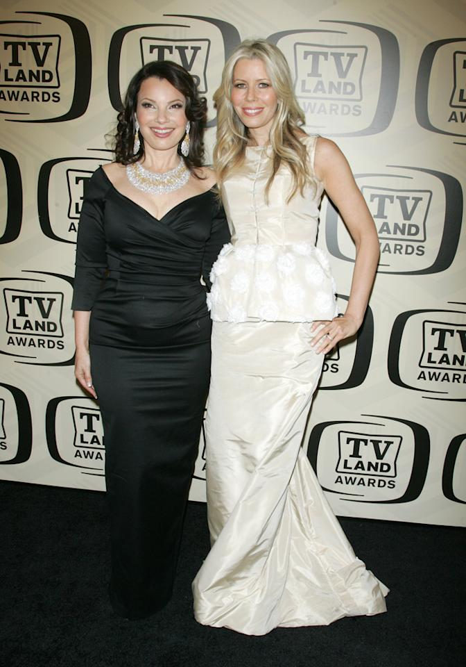 Fran Drescher and Aviva Drescher arrive at the 10th Annual TV Land Awards at the Lexington Avenue Armory on April 14, 2012 in New York City.