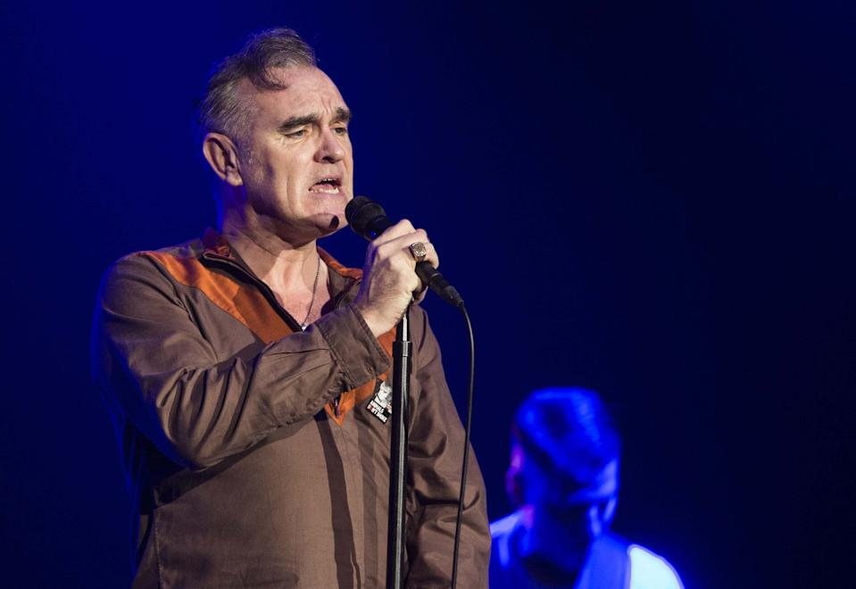 ISTANBUL, TURKEY - DECEMBER 17: Morrissey, vocalist of the band The Smiths, performs on stage at Volkswagen Arena on December 17, 2014 in Istanbul, Turkey. (Photo by Bulent Doruk/Anadolu Agency/Getty Images)