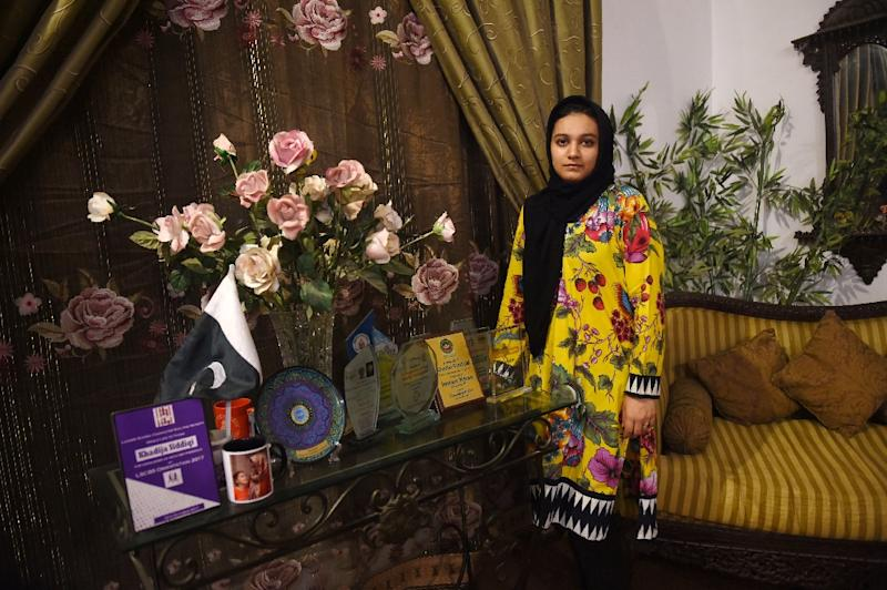 Siddiqui has emerged as a women's rights crusader since she was viciously stabbed in Lahore for rejecting a romantic overture (AFP Photo/ARIF ALI)