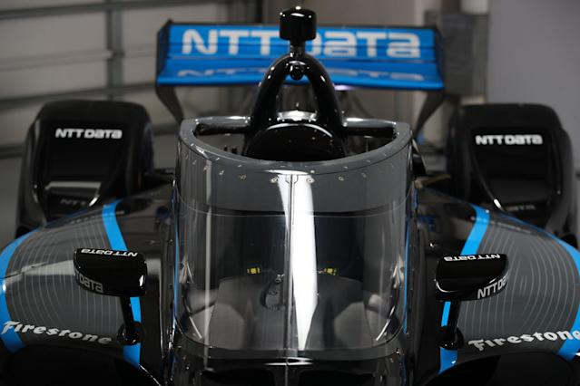 <em>A view of the aeroscreen on Felix Rosenqvist's No. 10 Dallara-Honda that will become standard on all cars in the NTT IndyCar Series this season (Chris Graythen/Getty Images).</em>