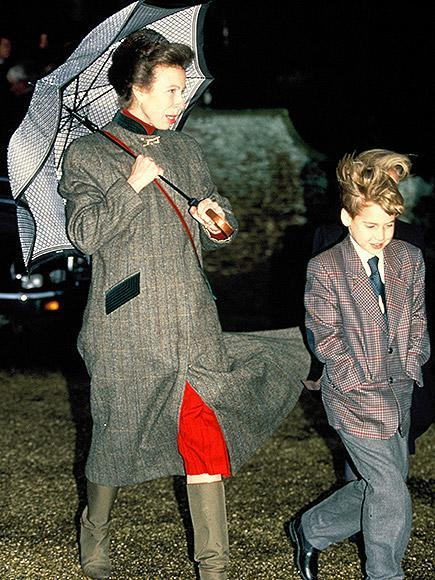 <p>Princess Anne and Prince William brave the wind in smart printed outerwear.</p>