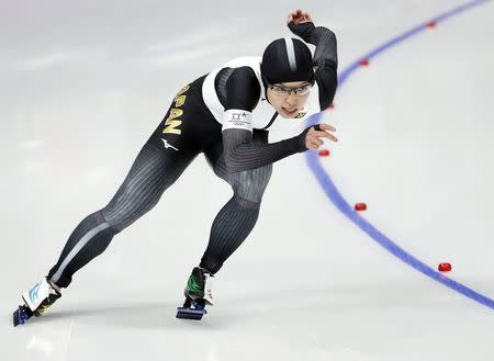 Speed Skating - Pyeongchang 2018 Winter Olympics - Women's 500m competition finals - Gangneung Oval - Gangneung, South Korea - February 18, 2018 - Nao Kodaira of Japan competes. REUTERS/Damir Sagolj