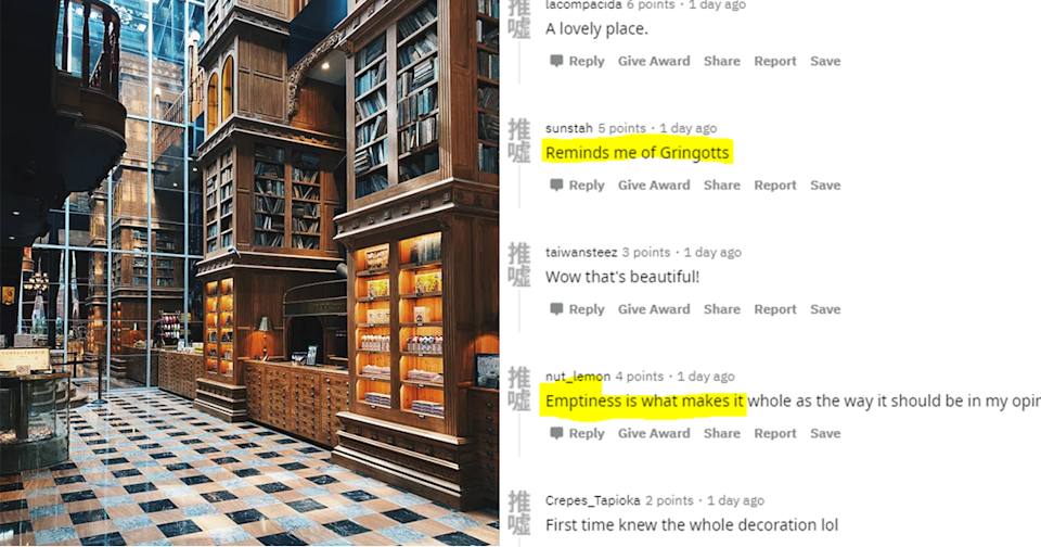 <p>Social media users compare The Miyahara Ice Cream Shop in Taichung to Gringotts. (Photo courtesy of @JoeyKaotykGWC/Reddit)</p>