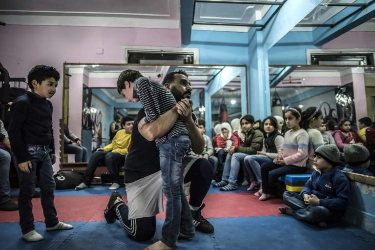 Syrian refugee Adel Bazmawi co-founded the sports academy in Egypt's Alexandria with the aim of making champions out of young refugees