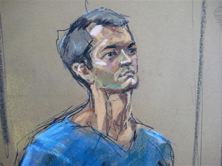 Ross Ulbricht , who prosecutors say created the underground online drugs marketplace Silk Road, makes an initial court appearance in New York, February 7, 2014. REUTERS/Jane Rosenberg