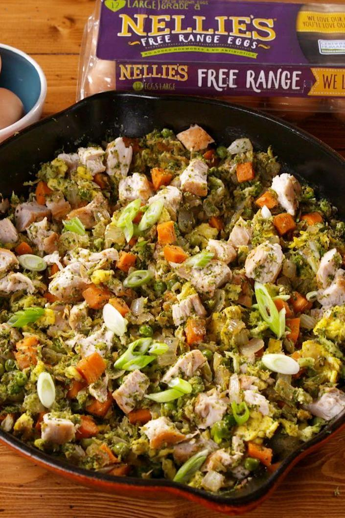 """<p>Light, yet hearty!</p><p>Get the recipe from <a href=""""https://www.delish.com/cooking/recipe-ideas/a22701107/broccoli-fried-rice-recipe/"""" rel=""""nofollow noopener"""" target=""""_blank"""" data-ylk=""""slk:Delish"""" class=""""link rapid-noclick-resp"""">Delish</a>. </p>"""