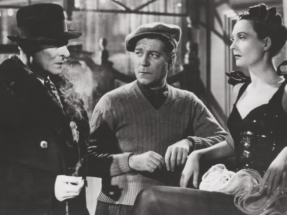 Gabin (centre), with Jules Berry and Arletty (1939)