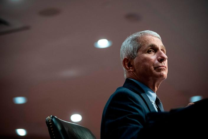 Dr. Anthony Fauci, the United States' top infectious disease expert, listens during a Senate committee hearing in Washington, D.C., on June 30. (Photo: AL DRAGO via Getty Images)