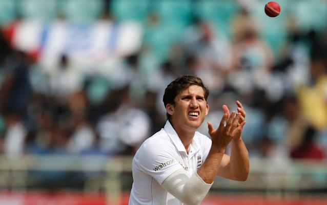Ansari in action for England in November  - AP
