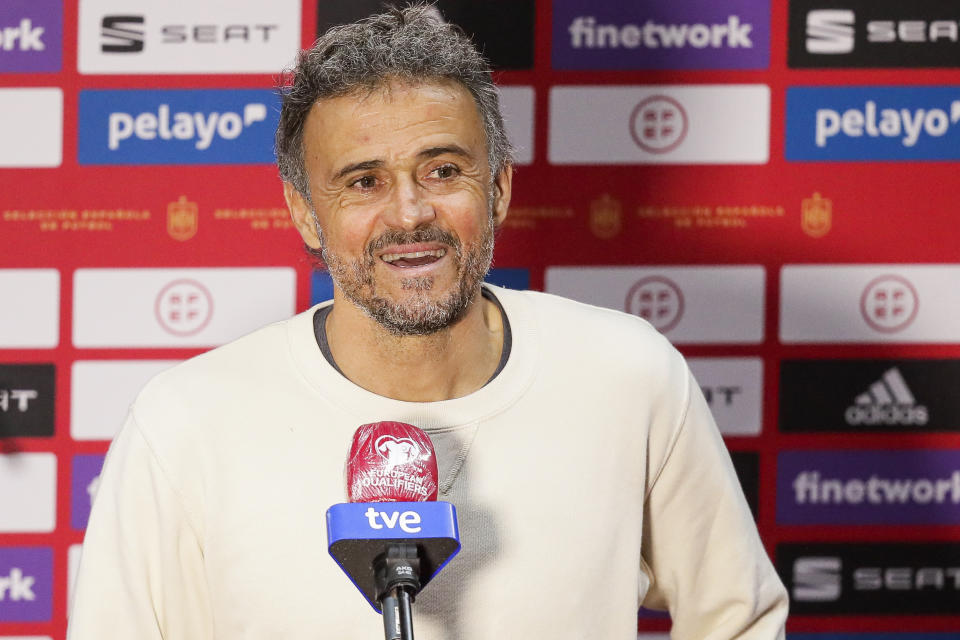 SEVILLA, SPAIN - MARCH 31: coach Luis Enrique of Spain during the  World Cup Qualifier  match between Spain  v Kosovo at the  La Cartuja Stadium on March 31, 2021 in Sevilla Spain (Photo by David S. Bustamante/Soccrates/Getty Images)