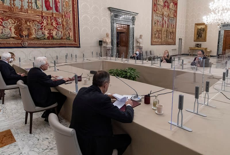 Second day of consultations between Italy's President Mattarella and political parties to try and find the basis for a new government, in Rome