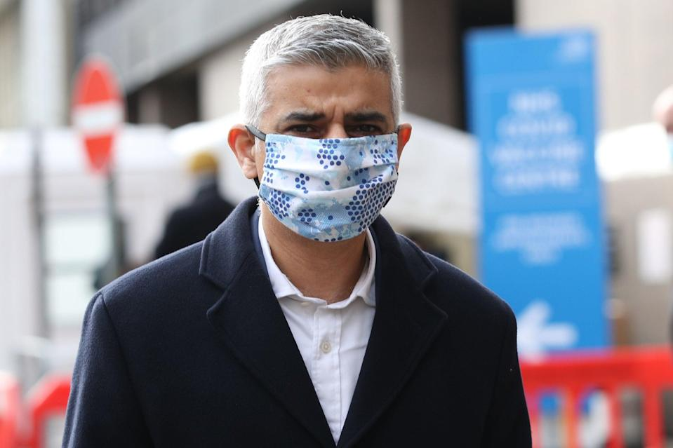 Man in the mask: Sadiq Khan says face coverings should be worn outdoorsPA