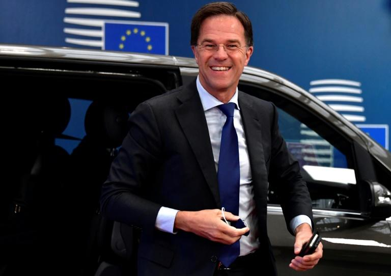 The Dutch PM is not super popular in the European south at the moment (AFP Photo/JOHN THYS)