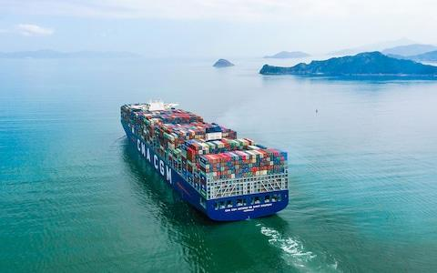 Europe's largest container ship CMA CGM Antoine de Saint Exupery
