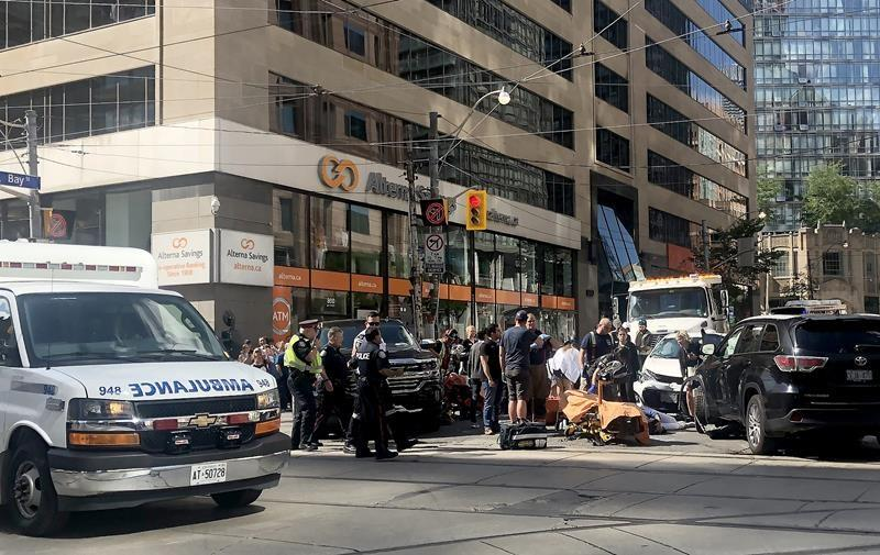 Five people injured in downtown Toronto collision: police