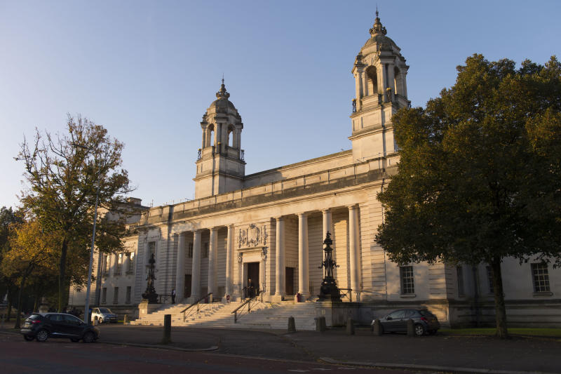 CARDIFF, WALES - OCTOBER 11: A general view of Cardiff Crown Court where Ched Evans is standing retrial for rape on October 11, 2016 in Cardiff, Wales. The former Wales striker was jailed in 2012 for raping a 19-year-old woman, but had his conviction quashed by the Court of Appeal in April. (Photo by Matthew Horwood/Getty Images)