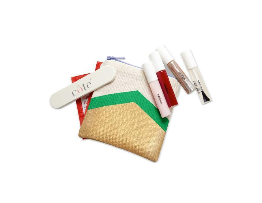 """<p>This mini nail set from five-free California brand côte is perfect for on-the-go manis. <a href=""""http://coteshop.myshopify.com/collections/gift-sets/products/holiday-traveler-set"""" rel=""""nofollow noopener"""" target=""""_blank"""" data-ylk=""""slk:Côte Traveler Gift Set"""" class=""""link rapid-noclick-resp"""">Côte Traveler Gift Set</a> ($38)<br></p>"""