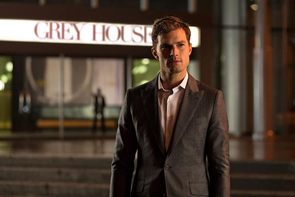 Jamie Dornan contemplates the mischief he's going to get upto next (Image by Universal)
