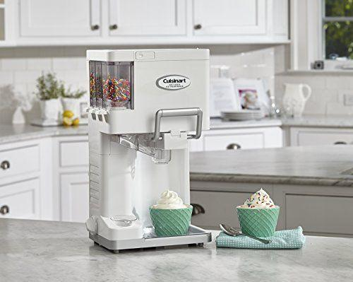 """<p><strong>Cuisinart Mix It In™ Soft Serve Ice Cream Maker</strong></p><p>amazon.com</p><p><strong>$99.37</strong></p><p><a href=""""https://www.amazon.com/dp/B000F94GPQ?tag=syn-yahoo-20&ascsubtag=%5Bartid%7C10050.g.977%5Bsrc%7Cyahoo-us"""" rel=""""nofollow noopener"""" target=""""_blank"""" data-ylk=""""slk:Shop Now"""" class=""""link rapid-noclick-resp"""">Shop Now</a></p><p>If soft-serve is more your style, this snazzy machine will not only whip it up, but it lets you add up to three different mix-ins, such as sprinkles or mini M&Ms! A cone-holder makes it great for parties or to let kids help themselves.</p>"""