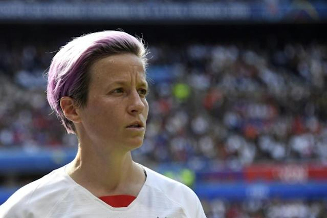 Megan Rapinoe has said she would not accept an invitation from US President Donald Trump to visit the White House (AFP Photo/CHRISTOPHE SIMON)