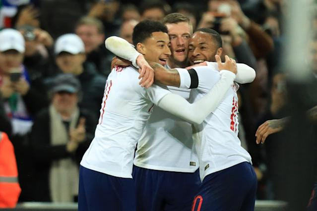 Jesse Lingard and Raheem Sterling are two of the faces of England's new generation, and both could play starring roles at the 2018 World Cup. (Getty)