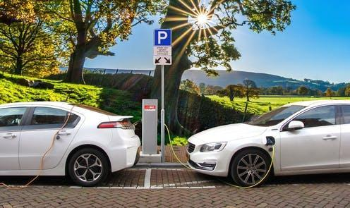 """<span class=""""caption"""">Without proper planning, an influx of electric vehicles could cause problems for the economy and our energy supply.</span> <span class=""""attribution""""><a class=""""link rapid-noclick-resp"""" href=""""https://pixabay.com/photos/car-electric-car-hybrid-car-3117778/"""" rel=""""nofollow noopener"""" target=""""_blank"""" data-ylk=""""slk:Joenomias/Pixabay"""">Joenomias/Pixabay</a></span>"""