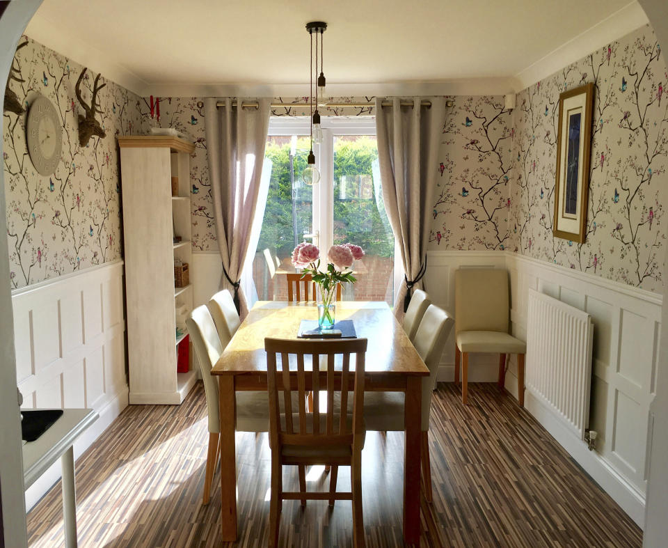 The dining room of the property (Caters News)