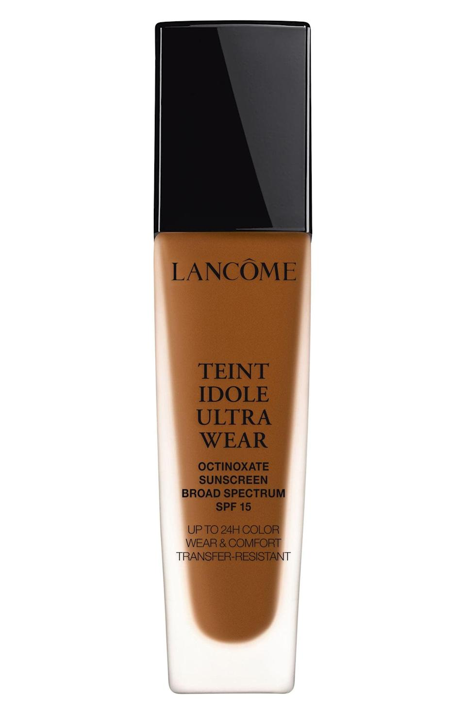 <p>The <span>Lancôme Teint Idole Ultra Liquid 24H Longwear SPF 15 Foundation</span> ($38, originally $47) is a fan favorite for its medium-to-full coverage with a velvet matte finish.</p>