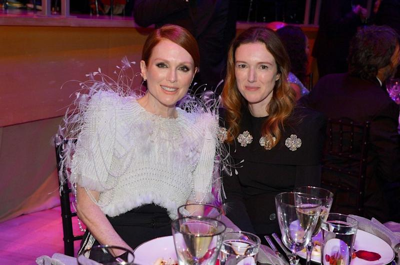 Julianne Moore and Clare Waight Keller