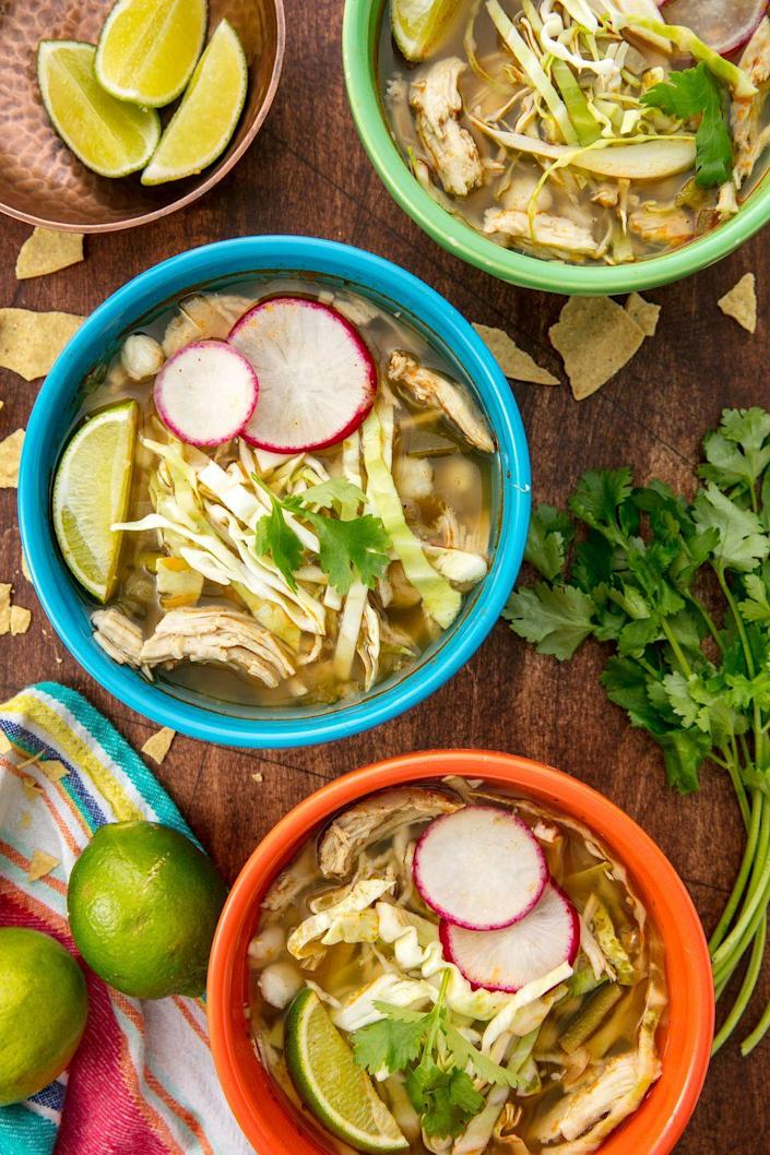 """<p>Enjoy the comfort of this Mexican favorite without any of the work.</p><p>Get the recipe from <a href=""""https://www.delish.com/cooking/recipe-ideas/recipes/a55758/crock-pot-mexican-posole-recipe/"""" rel=""""nofollow noopener"""" target=""""_blank"""" data-ylk=""""slk:Delish"""" class=""""link rapid-noclick-resp"""">Delish</a>. </p>"""