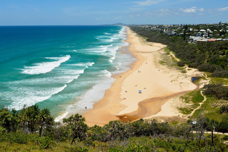 An aerial photo of Sunshine Beach in the Noosa region. Source: Getty Images.