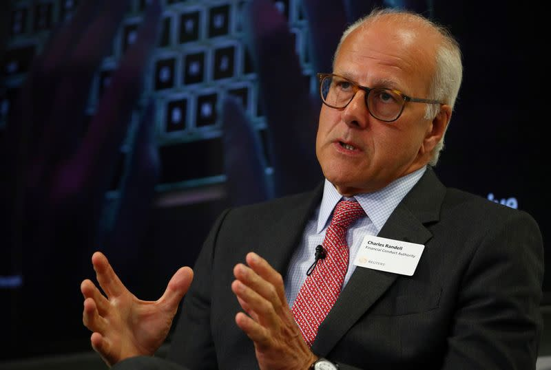 The Chair of the Financial Conduct Authority Charles Randell, speaks at a Reuters Newsmaker event, in London