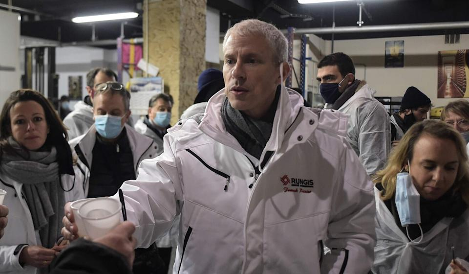French trade official Trade Franck Riester shown visiting a food market south of Paris on December 10, has raised objections to the proposed deal over its failure to address labour rights. Photo: AFP