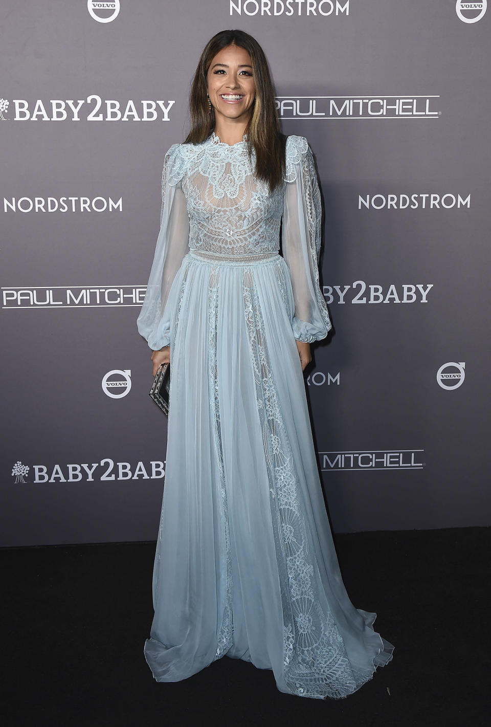 FILE - Gina Rodriguez arrives at the Baby2Baby Gala on Nov. 9, 2019, in Culver City, Calif. Rodriguez turns 37 on July 30. (Photo by Jordan Strauss/Invision/AP, File)