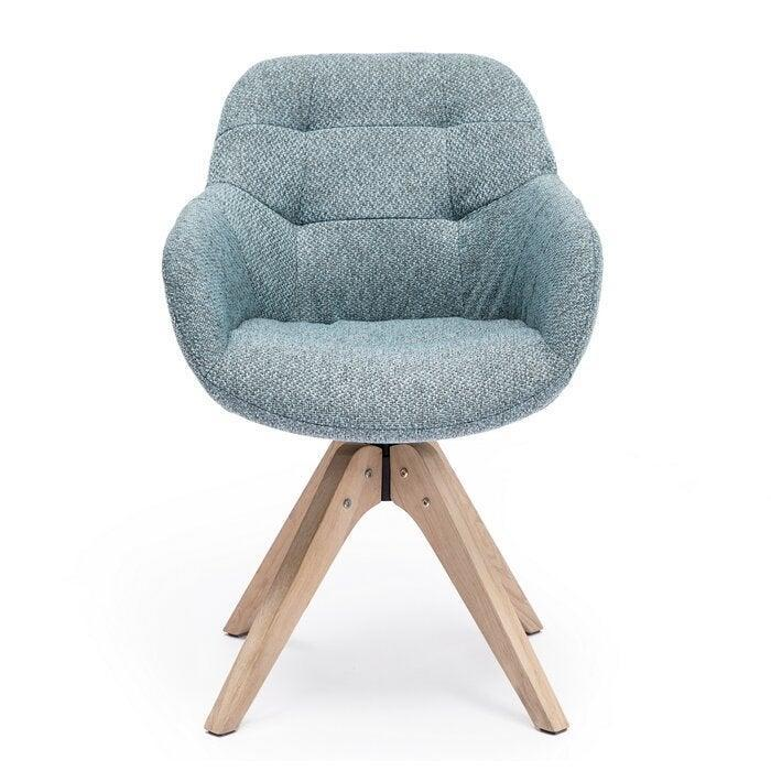 """<h3>Brayden Studio Giacchetto Swivel Armchair</h3> <br><strong>Best For: Comfy-Compact Support</strong><br>This cute cotton-blend armchair provides comfy deep-pocketed support in a compact frame that reviewers love to sit in while WFH – it also packs a stylish wheel-less frame and secret-swivel capabilities.<br><br><strong>The Hype: </strong>4.9 out of 5 stars and 21 reviews on <a href=""""https://www.wayfair.com/furniture/pdp/brayden-studio-giacchetto-swivel-armchair-w000868120.html"""" rel=""""nofollow noopener"""" target=""""_blank"""" data-ylk=""""slk:Wayfair"""" class=""""link rapid-noclick-resp"""">Wayfair</a><br><br><strong>Comfy Butts Say: </strong>""""I love the chair, it's the perfect height for my desk and it's super comfortable. The seat itself is deeper, going backward than I expected, but not a complaint at all. I highly recommend it; it's stylish and comfy."""" and """"I love it!!!! No more backaches while I work!!! Side note I wear a women's size four with a booty and thighs, the seat is not tight but it's on the smaller side for people with thick thighs and butts.""""<br><br><strong>Brayden Studio</strong> Giacchetto Swivel Armchair, $, available at <a href=""""https://go.skimresources.com/?id=30283X879131&url=https%3A%2F%2Fwww.wayfair.com%2Ffurniture%2Fpdp%2Fbrayden-studio-giacchetto-swivel-armchair-w000868120.html"""" rel=""""nofollow noopener"""" target=""""_blank"""" data-ylk=""""slk:Wayfair"""" class=""""link rapid-noclick-resp"""">Wayfair</a><br><br><br><br><br><br>"""