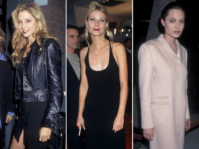 <p>From left: Mira Sorvino in 1995; Gwyneth Paltrow in 1996; Angelina Jolie in 1998.</p> | <p>Getty Images</p>