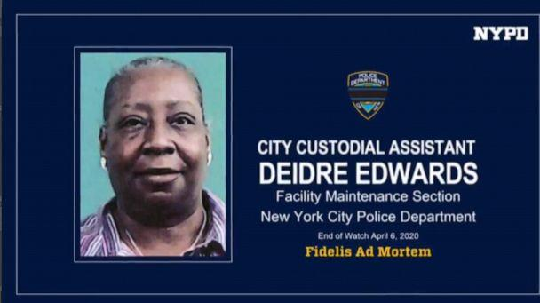 PHOTO: City Custodial Assistant Deidre Edwards is pictured in an image released by the New York Police Department. (NYPD)