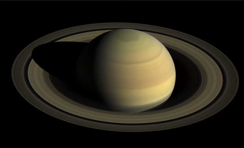 Saturn is eating away its icy rings
