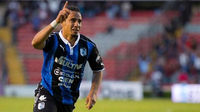 The Queretaro forward won the ball for himself in the centre circle and blasted in a beautiful shot from midfield, baffling the goalkeeper.