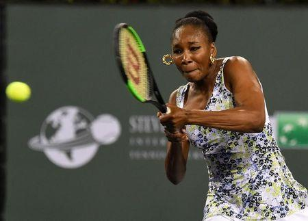 Venus Williams (USA) during her third round match against Serena Williams (not pictured) in the BNP Paribas Open at the Indian Wells Tennis Garden. Venus Williams won the match. Mandatory Credit: Jayne Kamin-Oncea-USA TODAY Sports