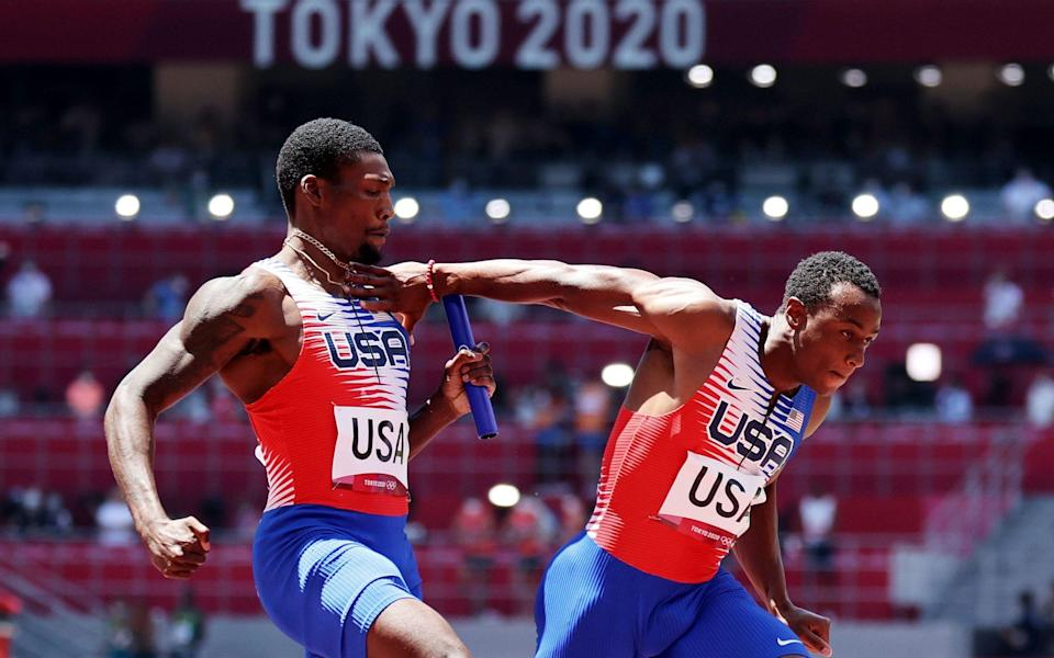 'A total embarrassment': Carl Lewis and Michael Johnson slam American 4x100m relay team after shambolic Tokyo Olympics exit - SHUTTERSTOCK