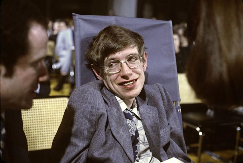 Stephen Hawking in 1979 at Princeton, New Jersey