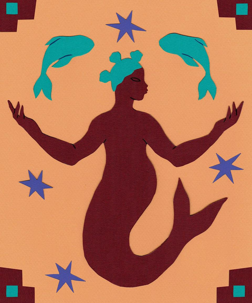 """<strong>Pisces</strong><br><strong>February 19 to March 20</strong><br><br><br>Are you hiding your gifts, Pisces? Consider sharing them with the world on Monday, when passionate Mercury <a href=""""https://www.refinery29.com/en-us/astrology-aspects-of-planets"""" rel=""""nofollow noopener"""" target=""""_blank"""" data-ylk=""""slk:forms a conjunction"""" class=""""link rapid-noclick-resp"""">forms a conjunction</a> with career-ruling Jupiter. People are especially receptive to big ideas as these planets complement each other — take a leap of faith. Be patient with loved ones and get ready to encounter some bumps in the road on Tuesday, when domestic-ruling Mercury creates a square with dynamic Uranus in retrograde. The clash of these planets can cause confusion and delays in even the most organised of homes. Take the pressure off by making an easy meal for dinner, or order takeout to help quell any nerves. Kick back and relax to shake this energy off. Meditate on what goals you'd like to achieve on Wednesday, when your creative-ruling Moon begins a new cycle in focused Capricorn. You could break major ground on a project as this new Moon forms a conjunction with transformative Pluto."""